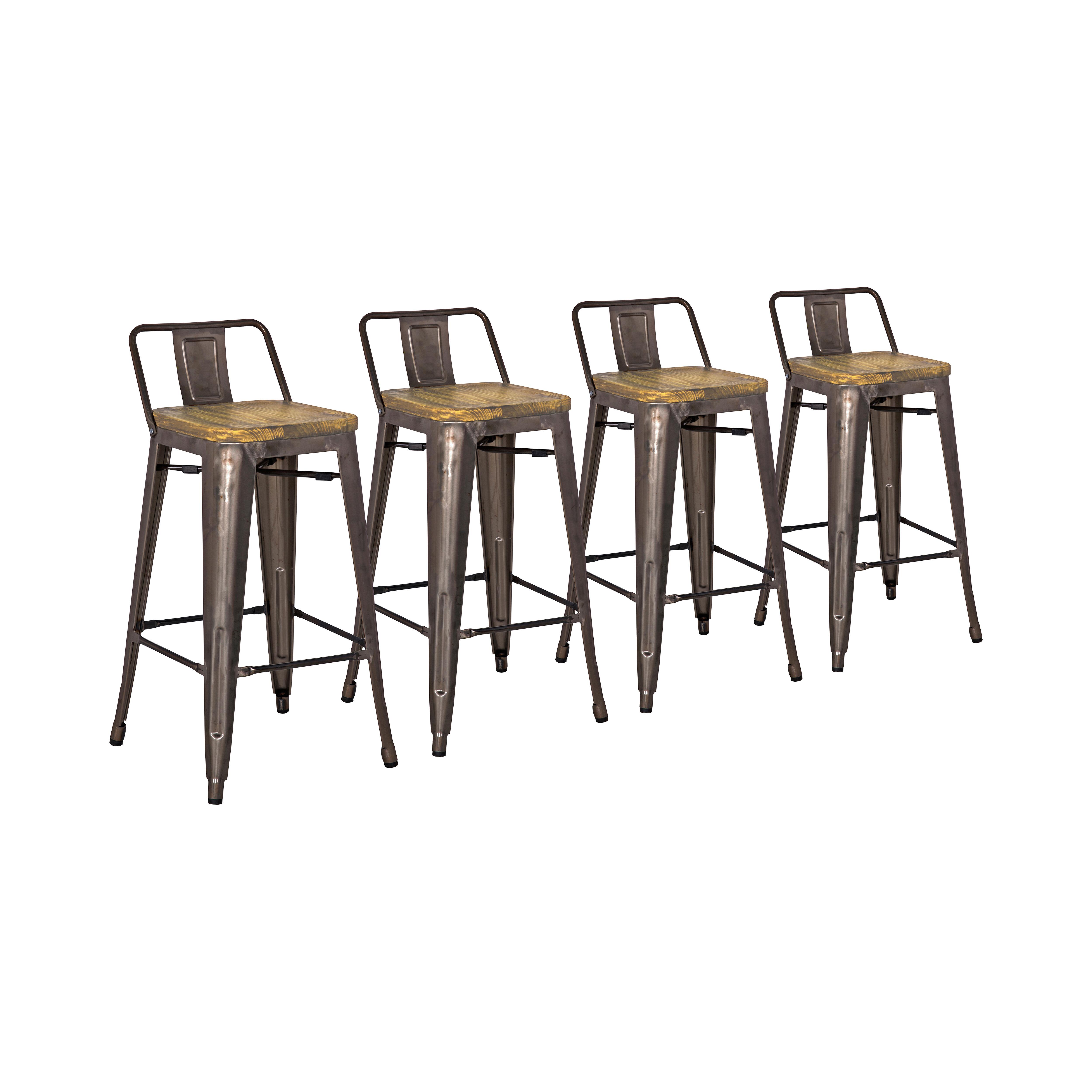 Zipcode Design Irvington Solid Wood Counter Bar Stool Reviews Wayfair