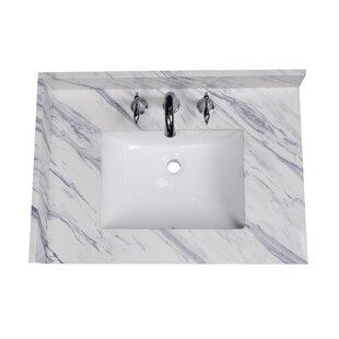 Calacatta 31 Single Bathroom Vanity Top By Renaissance Vanity
