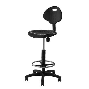 Height Adjustable Self Skin Polyurethane Stool with Backrest