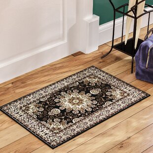 Best Price Meredosia Oriental Black/Beige Area Rug By Three Posts