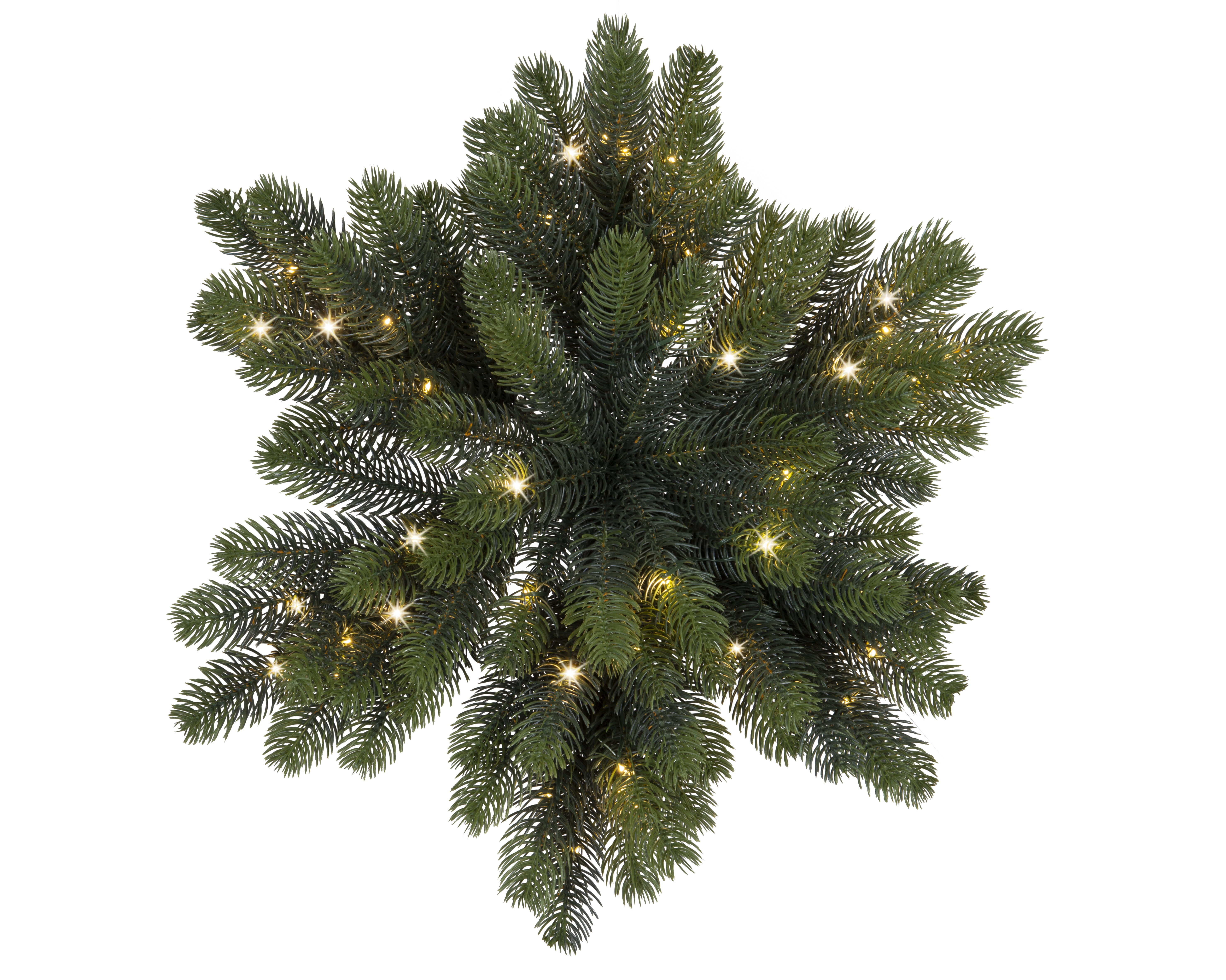 The Holiday Aisle Star Shaped Pinecone Pre Lit Swag With Warm Lights Wayfair Ca