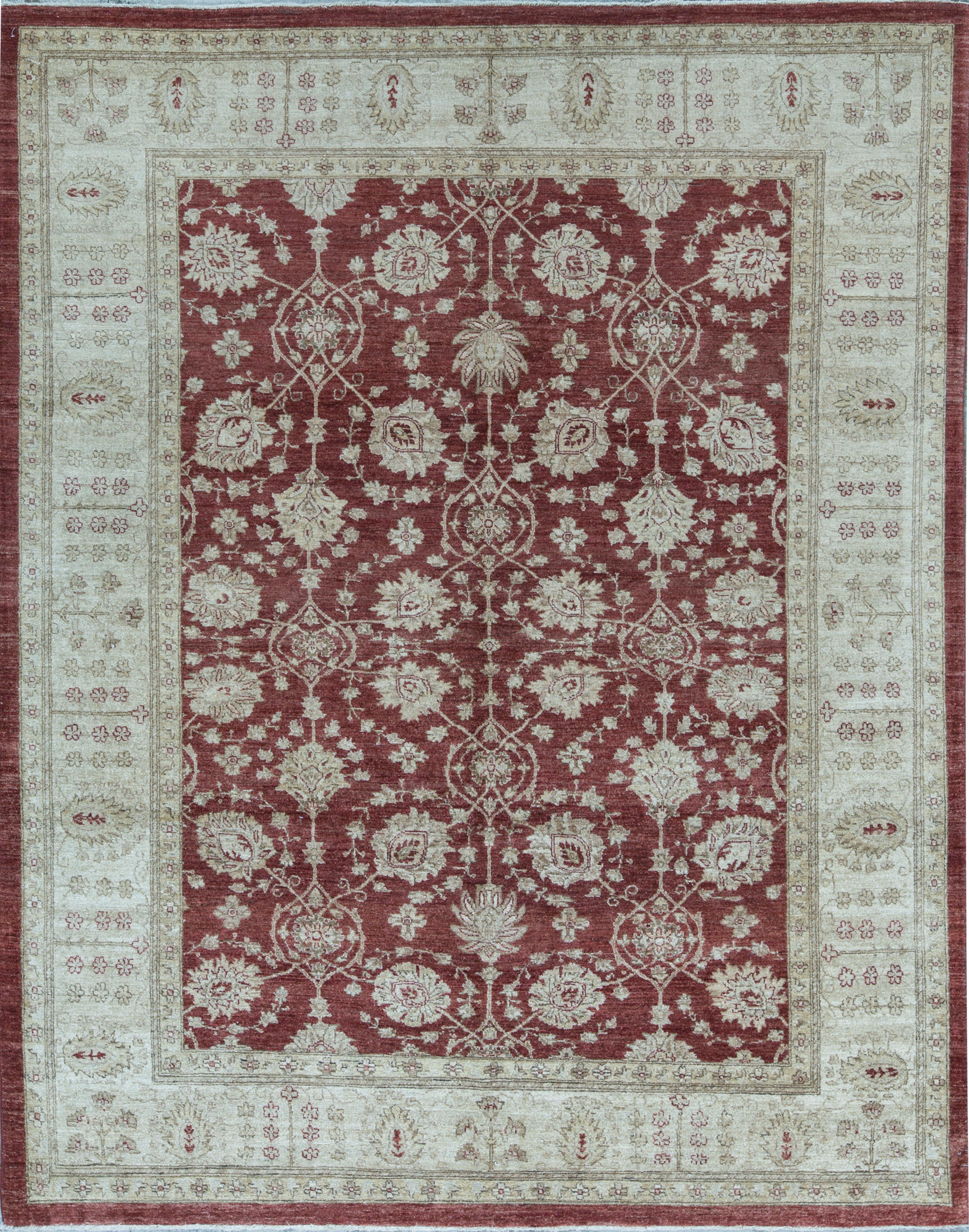 Bokara Rug Co Inc Ziegler Oriental Hand Knotted Wool Red Cream Area Rug Wayfair