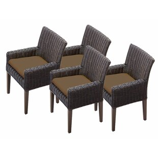 Mejia Patio Dining Chair with Cushion (Set of 4)