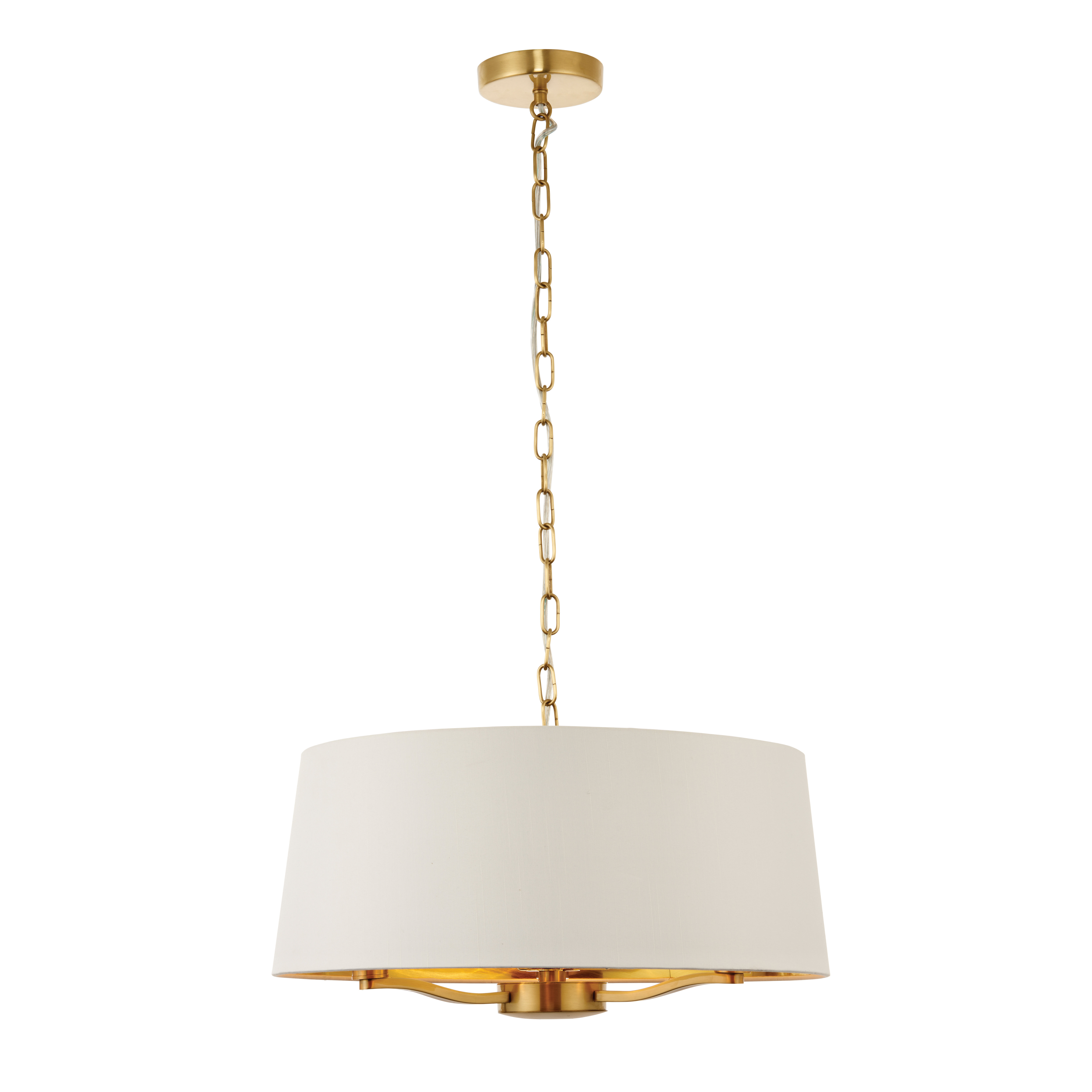 unlit drum full with linea light ll shade allegro lamp web fixture pendant products white fabric brushed ceiling di nickel