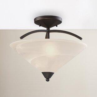 Alcott Hill Brookhurst 2-Light Semi Flush Mount
