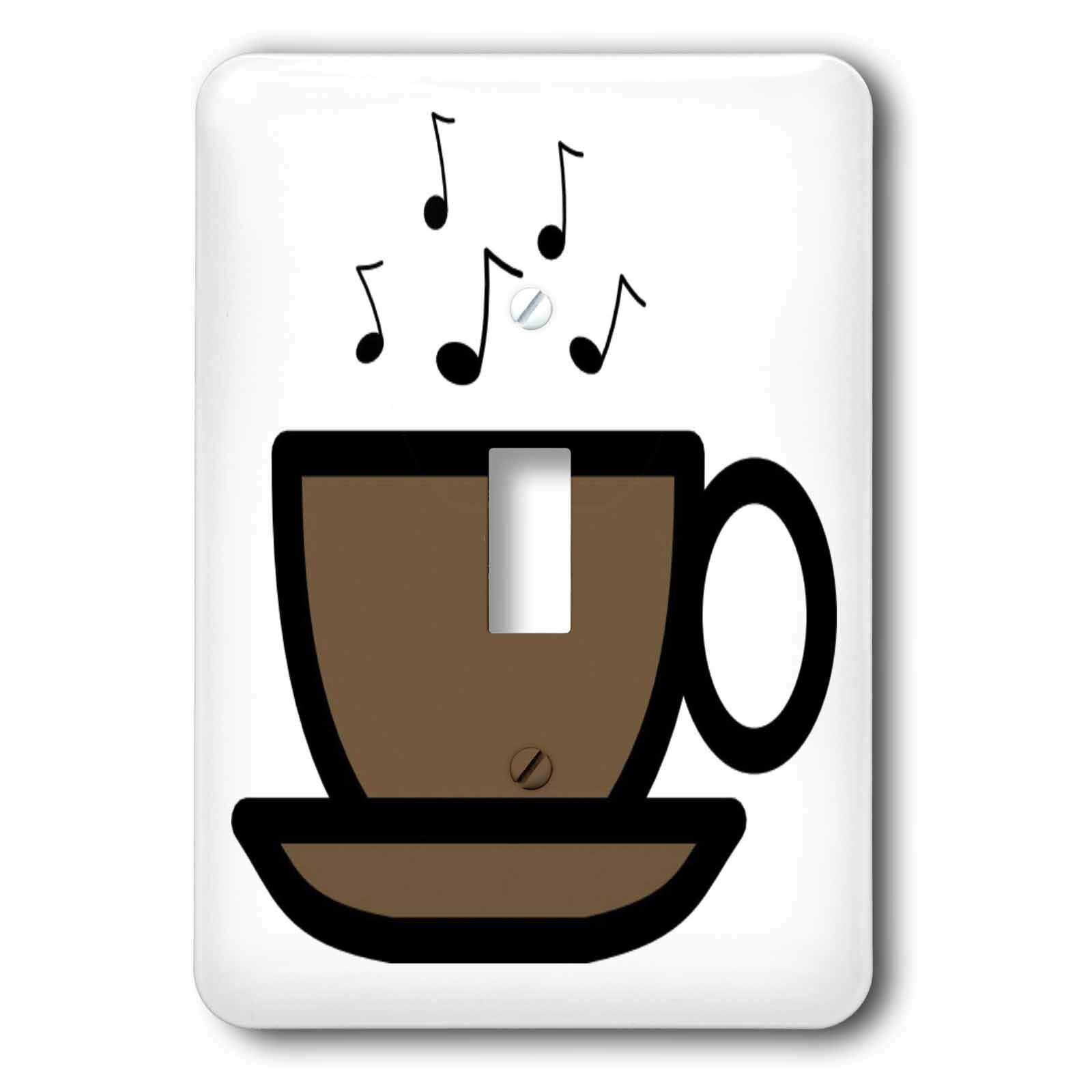 3drose Coffee Cup With Music Notes 1 Gang Toggle Light Switch Wall Plate Wayfair