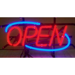 Open Neon Sign By Neonetics