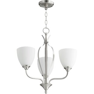 Fleur De Lis Living Brookview 3-Light Shaded Chandelier