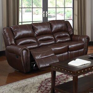 Brady Leather Reclining Sofa by Red Barrel Studio