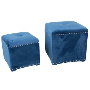 2 Piece Cube Ottoman Set by A&B Home