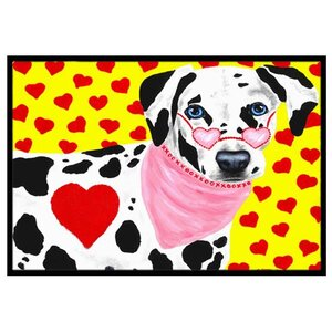 Hearts and Dalmatian Doormat