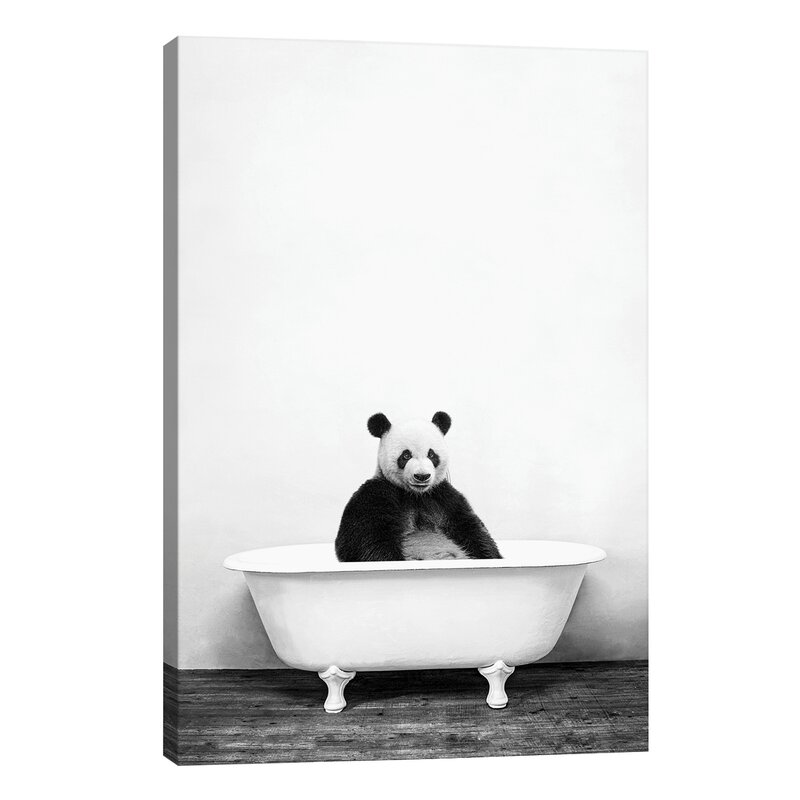 East Urban Home Panda In Bathtub By Amy Peterson Graphic Art Print On Wayfair