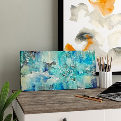 Wrought Studio 'Dream' Graphic Art on Wrapped Canvas Size: 10 H x 20 W x 1.5 D