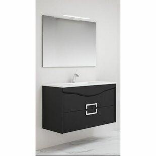 Nero 1000mm Wall Hung Single Vanity By Belfry Bathroom
