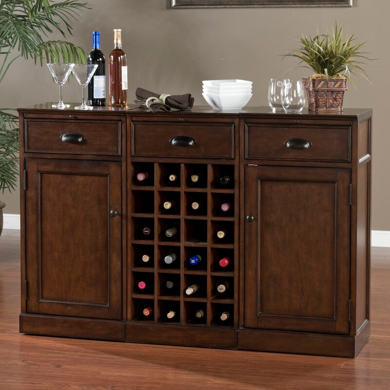 American Heritage Natalia Bar Cabinet with Wine Storage & Reviews ...