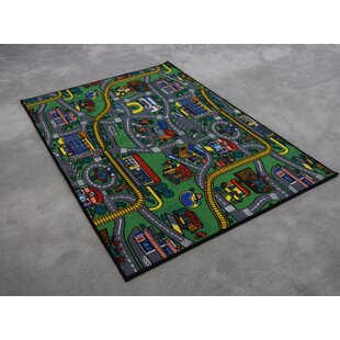 Affordable Price Edgerton Wool Blue/Green Area Rug By Zoomie Kids