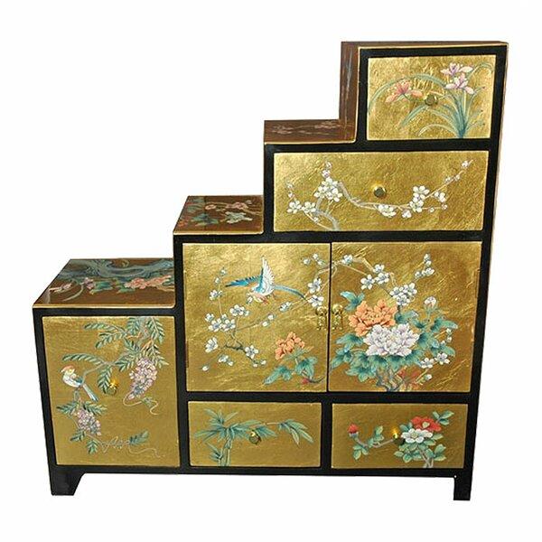High Quality Oriental Furniture Chinese Leaf Step Tansu Cabinet U0026 Reviews | Wayfair