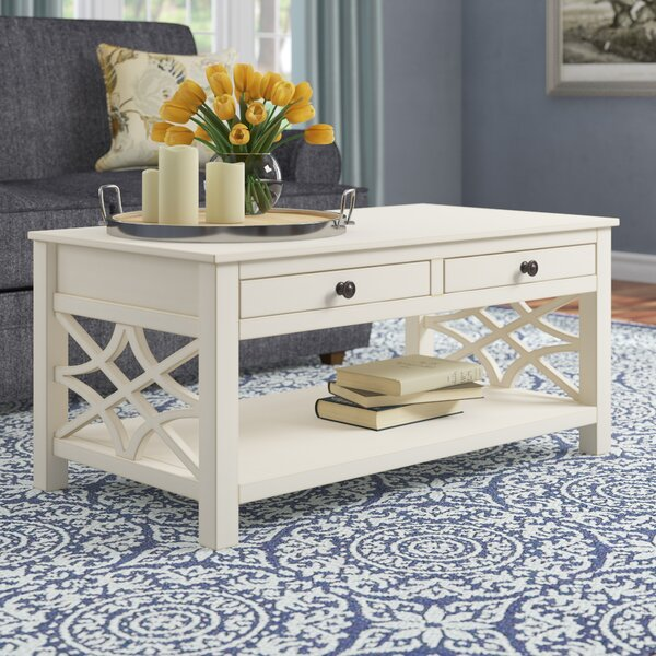Highland Dunes Vicente Coffee Table With Storage Amp Reviews