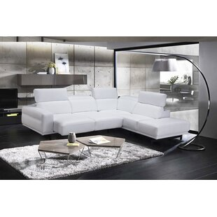 White Leather Sofa Sectional Wayfair