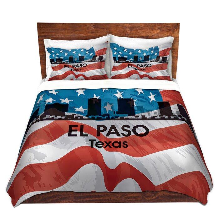 City VI El Paso Texas Duvet Cover Set