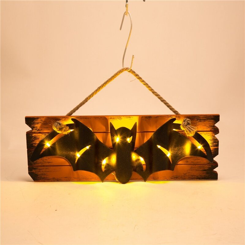 Glitzhome Handcrafted Halloween Wooden/Iron Bat Wall Décor & Reviews ...