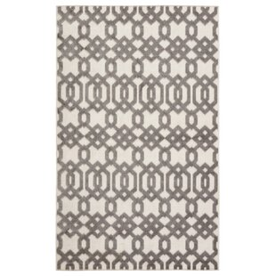 Nolita Trellis White/Light Gray Indoor/Outdoor Area Rug