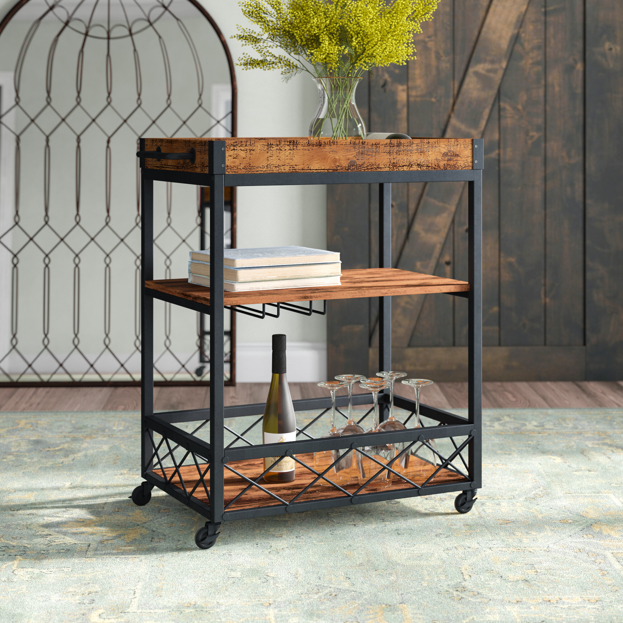 Large Larger Than 35 Bar Carts You Ll Love In 2020 Wayfair