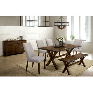 Rawson 6 Piece Solid Wood Dining Set
