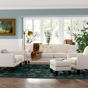 Wayne 4 Piece Living Room Set by Three Posts