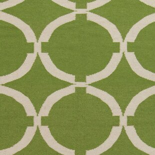 Shop Atkins Palm Green Geometric Area Rug By Charlton Home