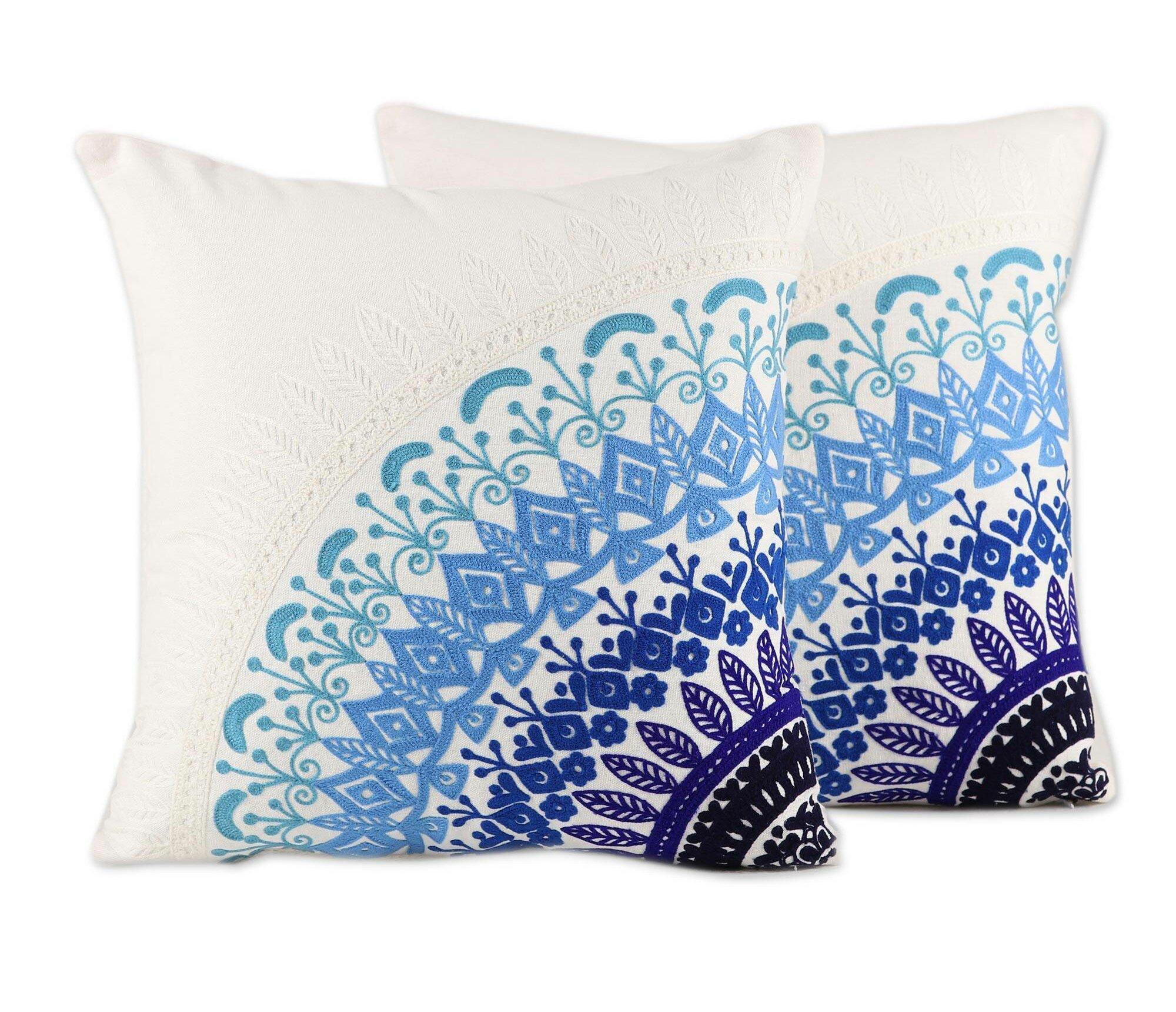World Menagerie Berenices Cotton 18 Throw Pillow Cover Wayfair