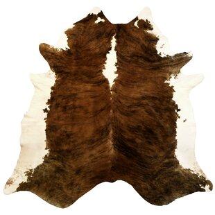 Extra Large Brindle Brazilian Cowhide Brown U0026 White Area Rug