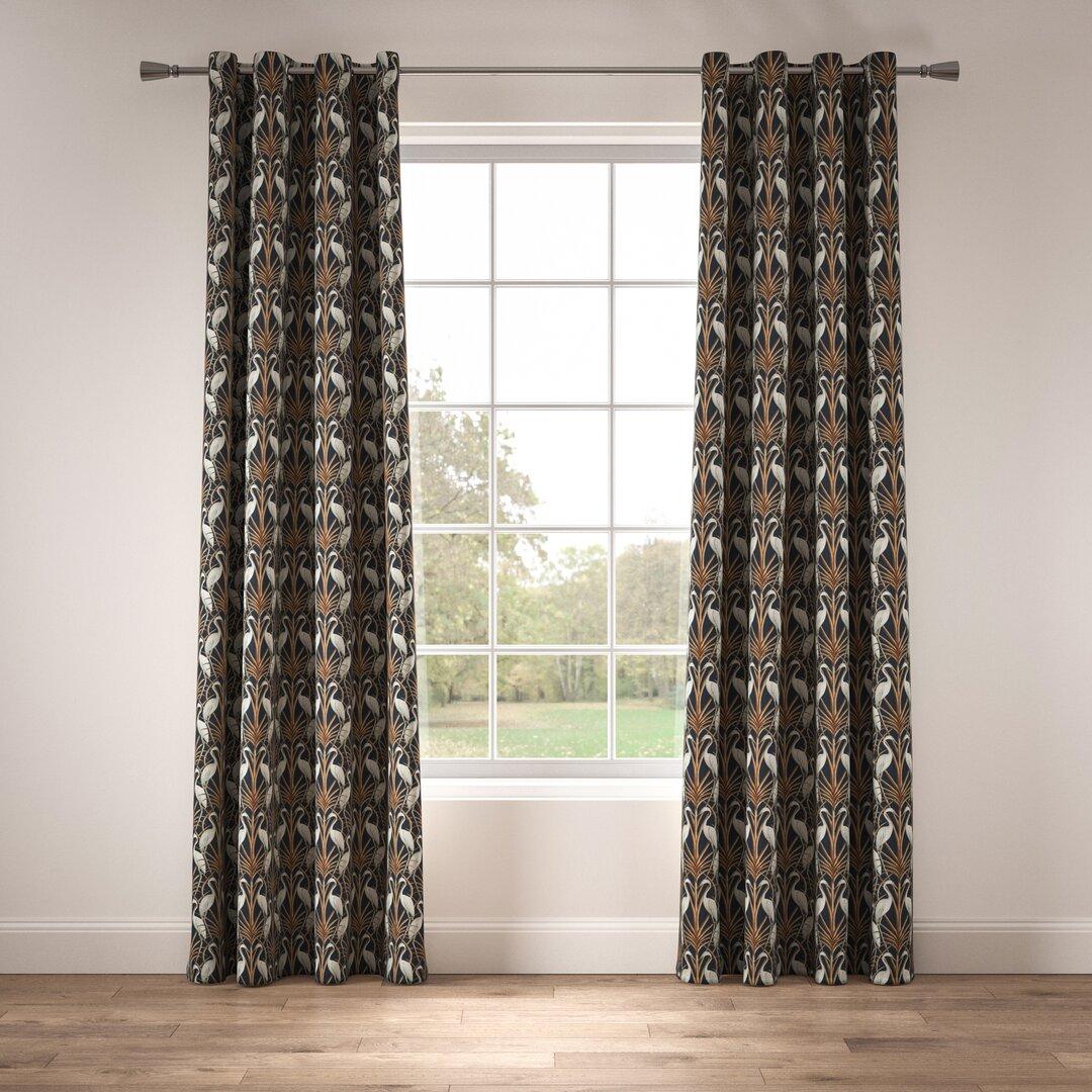 Nouveau Heron Eyelet Room Darkening Thermal Curtains