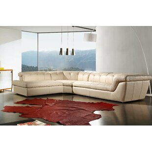 Lola Leather Sectional by Orren Ellis Great Reviews