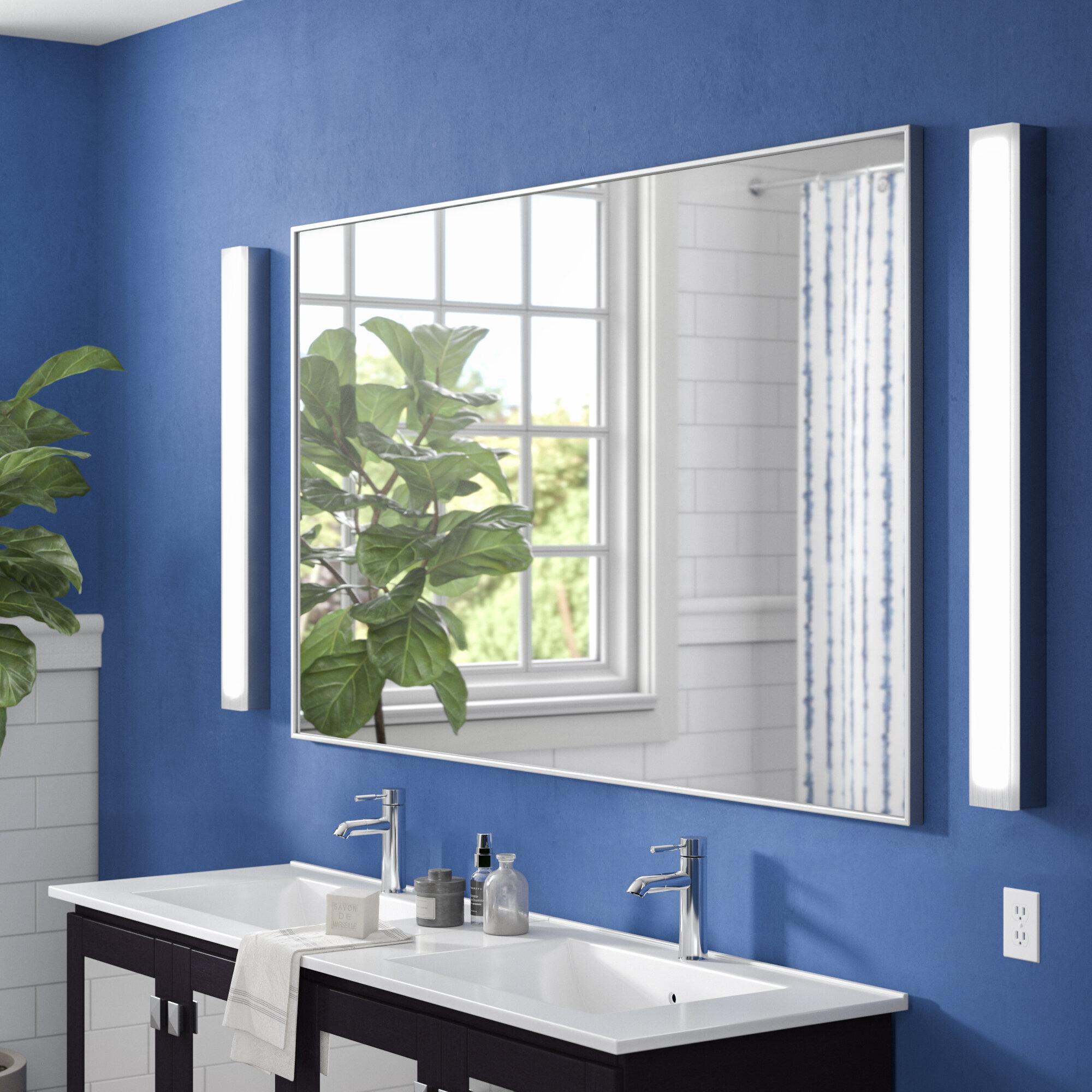 Image of: Wade Logan Lechlade Modern Contemporary Bathroom Vanity Mirror Reviews Wayfair