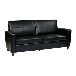Leather Sofa by Office Star Products