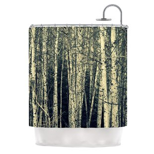 Birch by Robin Dickinson Single Shower Curtain