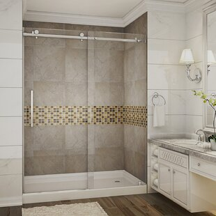 Moselle 60 x 77.5 Single Sliding Completely Frameless Shower Door ByAston
