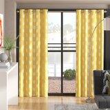 Berj Striped Semi-Sheer Thermal Grommet Curtain Panels (Set of 2)