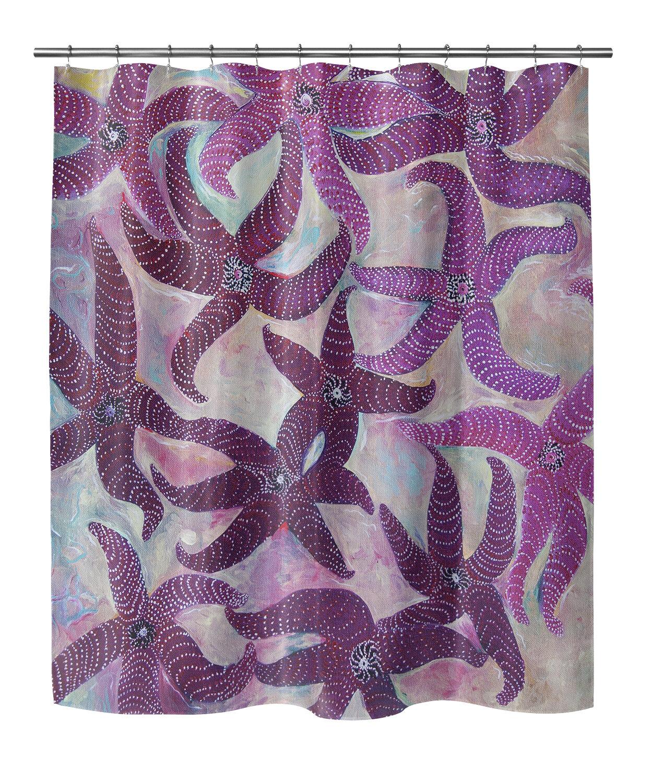 Highland Dunes Burkey Starfish Dance Shower Curtain
