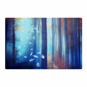 Viviana Gonzalez Dreams Trees Blue/Red Area Rug