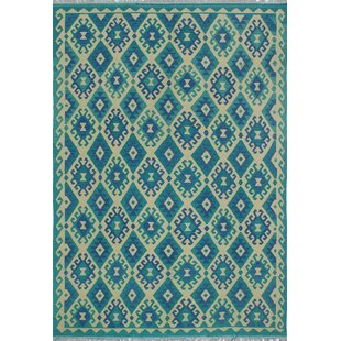 One Of A Kind Rucker Kilim Hand Woven Premium Wool Rectangle Beige Fringe Area Rug