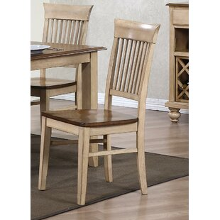 Loon Peak Huerfano Valley Fancy Solid Wood Dining Chair (Set of 2)