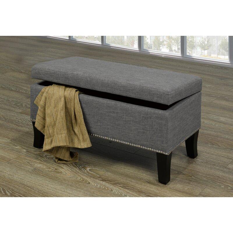 House Of Hampton Mindy Upholstered Storage Bench Reviews Wayfair