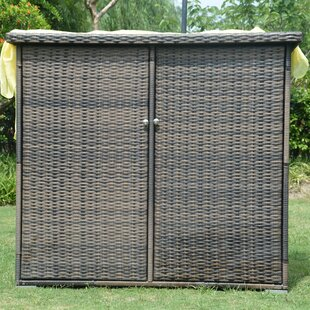 Direct Wicker Store-It-Out Max 4 ft. 1 in. W x 2 ft. 6 in. D Metal Horizontal Garbage Shed