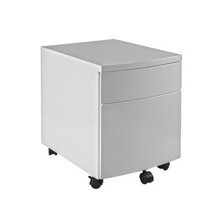 2 Drawer Mobile Vertical Filing Cabinet