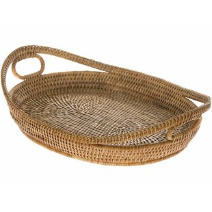 Telford Handwoven Oval Rattan Serving Tray
