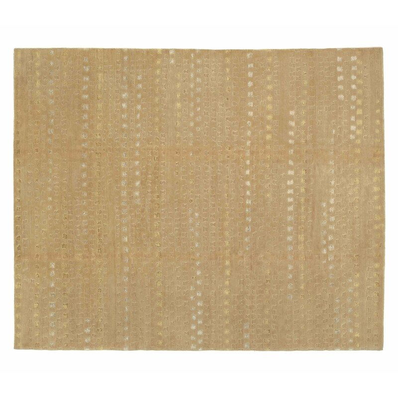Tufenkian Abstract Hand Knotted Wool Silk Beige Area Rug Perigold