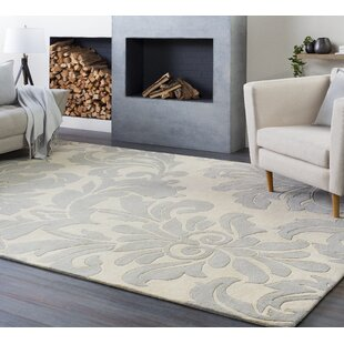Millwood Hand-Tufted Cream/Gray Area Rug by Charlton Home