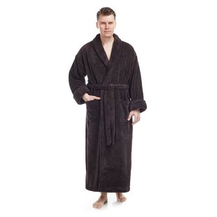 Micah Men's Shawl Collar Fleece Bathrobe